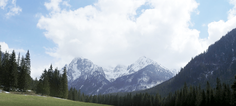 High Tatras Mountains Slovakia Clouds Green Field