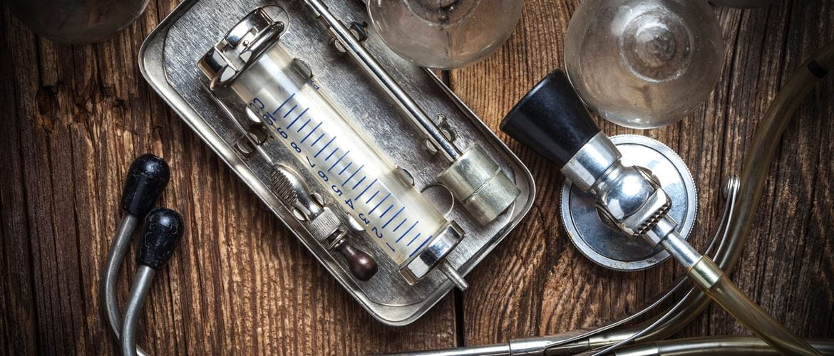 old fashioned medical equipment