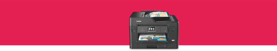 business inkjet printer on a red background
