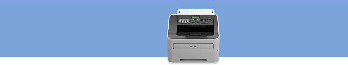 fax machine on a blue background