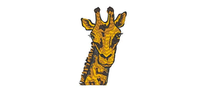 Giraffe head embroidery design