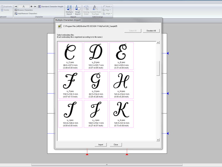 font mapping 2