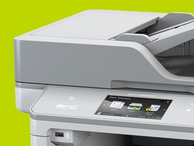 office printer on a green background